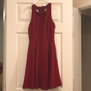 Call Back Wine Red Backless Skater Dress Lulu's